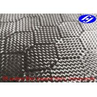 Wholesale Honeycomb / Hexagon Pattern 3K Carbon Black Fiber Jacquard Fabric from china suppliers