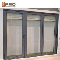 Buy cheap exterior balcony insulated glass accordion aluminum sliding folding door from wholesalers