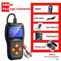 Buy cheap Free Upgrade System Car Battery Tester KONNWEI KW600 Black With Printer Launch from wholesalers