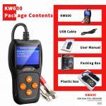 Buy cheap Long Lifespan Car Battery Tester KONNWEI KW600 XP WIN7 WIN8 WIN10 System from wholesalers
