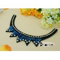 Buy cheap Luxury Diamond Crystal Beaded Neckline Applique For Ladies Dress from wholesalers