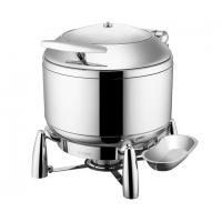 Buy cheap Buffet Ware Stainless Steel Cookwares Roung Soup Warmer With Glass Window / Lid 10Ltr from wholesalers