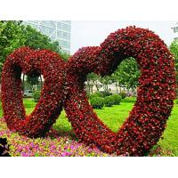 Wholesale Love Heart Shaped Artificial Flowered Wedding Arch Shelf Love Wedding Topiary for Ceremony from china suppliers
