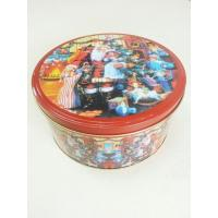 Buy cheap Christmas Cookie Tin Storage Containers , Food Storage Cylindroid Small Tin Boxes from wholesalers
