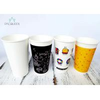 Wholesale Solid Black Latte Cups , To Go Coffee Cups Small / Large Branded from china suppliers
