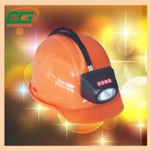 Atex Approval Digital And Cordless Cree Mining Hard Hat LED Lights , Miner Helmet Light Manufactures