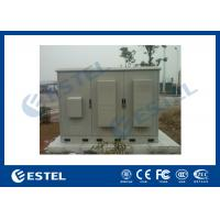Quality 3 Compartments Outdoor Integrated Base Station Cabinet For Installation Equipment And Battery for sale