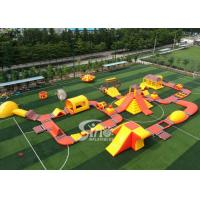 Wholesale 42x25m Custom Deisgn Giant Inflatable Floating Water Park With Silk Printing from china suppliers