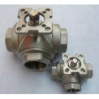 Buy cheap 3 way full bore ball valve dn10 ,Stainless Steel valve with mounting pad from wholesalers