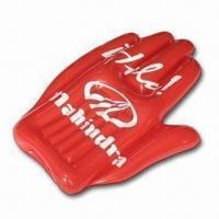 Buy cheap Durable Inflatable Hand Toy with 0.18mm Thickness, OEM Printing Orders Welcomed from wholesalers