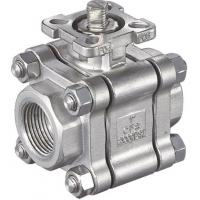 Buy cheap Theaded End 3pc High Mounting Pad Manual or Actuator Ball Valve 2000 wog 1/2 - 2 from wholesalers