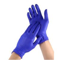 Buy cheap Rubber Disposable Medical Hand Gloves Sterile Nitrile Slip Resistant from wholesalers