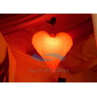 Wholesale Romantic Heart Shaped Inflatable Party Stage Decoration With Multi - Color Light from china suppliers