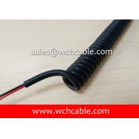 Buy cheap UL21686 TPU Curly Cable 28AWG 13C OD6.0mm VW-1 Matt Black L=300mm 80C 30V from wholesalers
