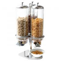 China Cereal Dispenser Commercial Buffet Equipment Dry Food Container 3 Head on sale