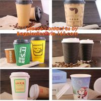 Buy cheap natural coffee cup,printed paper cup,tea cup and saucer, New Style Custome Printed Double Wall Paper Coffee Cups with Li from wholesalers