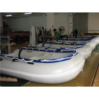 Buy cheap 14.1 Ft Small Inflatable Boat With Motor , Dive Inflatable Power Boat Abrasion Proof from wholesalers