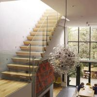 Wholesale Hot sell single beam interior glass stair railing wood straight staircase from china suppliers