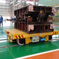 Buy cheap Steel Box Beam Structure Motorized Platform Cart , VFD Material Moving Equipment from wholesalers