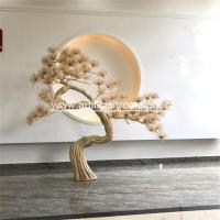 Wholesale Yellow Artificial Poly Resin Pine Trees Needle Branch Club Festivals Occasion Decoration from china suppliers