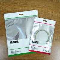 Buy cheap Ziplock USB Cable Plastic Pouches Packaging Resealable Mobile Phone Case Bags With Handle from wholesalers