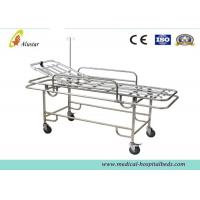 Buy cheap Four Wheels Ambulance Stretcher Trolley , Hospital Stainless Steel Stretcher Cart ALS-S017 from wholesalers