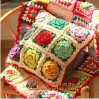 Buy cheap new cotton crochet pillow cover cotton knitted pillow cover cushion towel for home decor from wholesalers