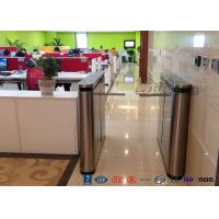 Wholesale Fingerprint Drop Arm Turnstile , Road Access Control Electronic Barrier Gates from china suppliers