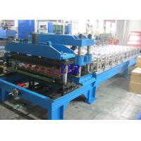 Metal Glazed Tile Roll Forming Machine , Corrugated Roofing Sheet Making Machine