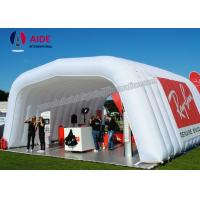 China White Inflatable Event Tent For Camping Yard Inflatable Caravan Awning on sale