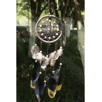 Buy cheap Wind Chimes Indian Style Feather Leather Gold Dream Catcher for Home Decor Hanging Decoration Nice Gift from wholesalers
