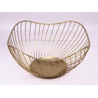 Buy cheap High quality Fashion household storage gold metal basket storage from wholesalers