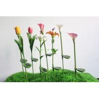 calla lily solar lights/outside garden lights/led solar lawn lamps/yard lighting