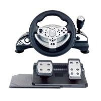 multi-interface gaming racing wheel steering wheel with foot pedal forPC (Direct-X & X-INPUT) /PS3 /PS4 Manufactures