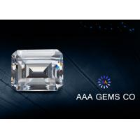 1.74ct Supper White Emerald Cut Moissanite Created 6mm x 8mm