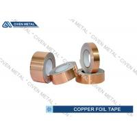Wholesale EMI / RFI Shielding Conductive Copper Foil Tape Roll 0.05mm - 0.009mm from china suppliers