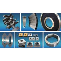 Buy cheap Coated Fixed  Tyre Cutting Blades , Shredder Replacement Parts High Intensity from wholesalers