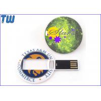 Buy cheap Mini Round Medal Card 64GB Pen Drive Stick Full Color Custom Printing from wholesalers