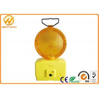 Quality 1000M Visible Amber Emergency Flashing LED Traffic Warning Lights with Two 4R25 Battery 185 * 95 * 340 mm for sale