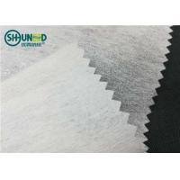 Wholesale LDPE coating 1025H chemical bond fusible nonwoven interlining for garment embroidery backing use from china suppliers