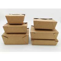 Buy cheap Microwavable Stackable Folding Cardboard Takeaway Food Containers Recyclable from wholesalers