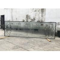 Buy cheap Black Patina Sliding Glass Door Double Glazed Telescopic Tempered Glass from wholesalers