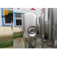 Buy cheap 500L Stainless Steel Conical Beer Fermenter , Small Conical Fermenter With Dimple Plate Jacket from wholesalers