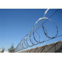 Wholesale Security 304 Concertina Wire Fencing , Razor Wire Barrier Decorative Barbed from china suppliers