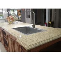 Wholesale Vivid Beige Glossy Polished Sparkle Quartz Countertops Ogee Edge Good Color Consistency from china suppliers