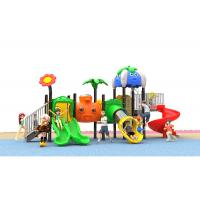 China Kid Kindergarten Outdoor Plastic Playground Slide Green Red Yellow Blue Color on sale