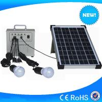 Buy cheap Hot selling 10w mini solar home lighting system, lighting solar kits with phone charger from wholesalers