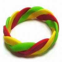 Wholesale Silicone Bracelet, Various Thicknesses Available from china suppliers