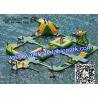 Inflatable Aqua Park For Adults And Kids , Amusement  Water Park CE / EN Manufactures