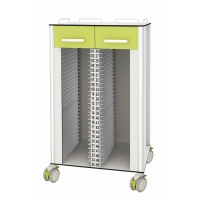Buy cheap Central Lock Clinic 50 holders Medical Records Trolley from wholesalers